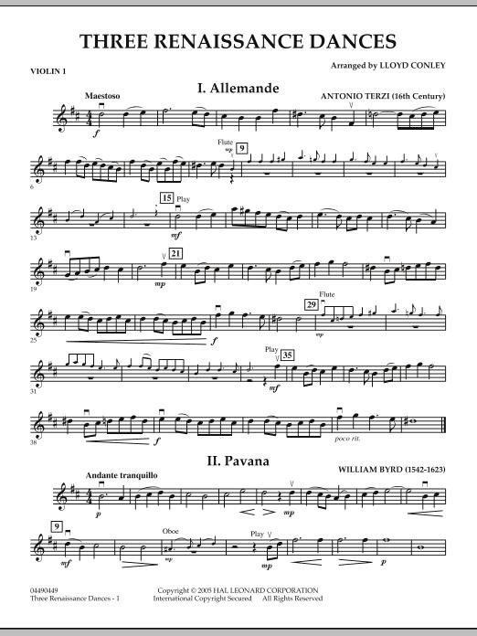 Three Renaissance Dances - Violin 1 (Orchestra)