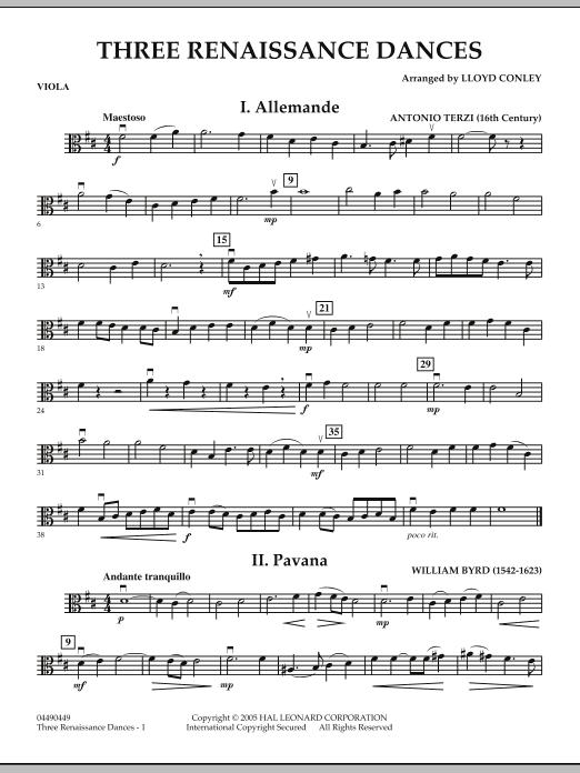 Three Renaissance Dances - Viola (Orchestra)