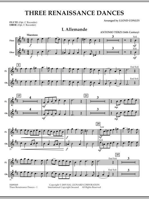 Three Renaissance Dances - Flute/Oboe (Orchestra)