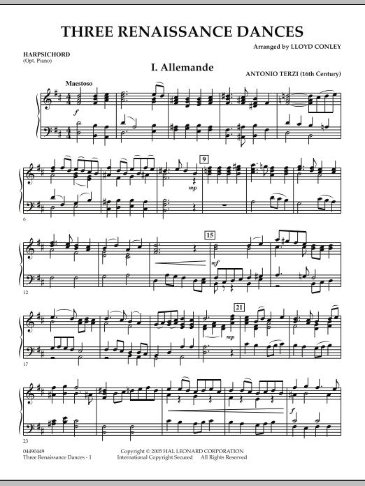 Three Renaissance Dances - Harpsichord (Orchestra)