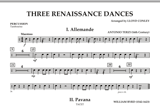 Three Renaissance Dances - Percussion (Orchestra)