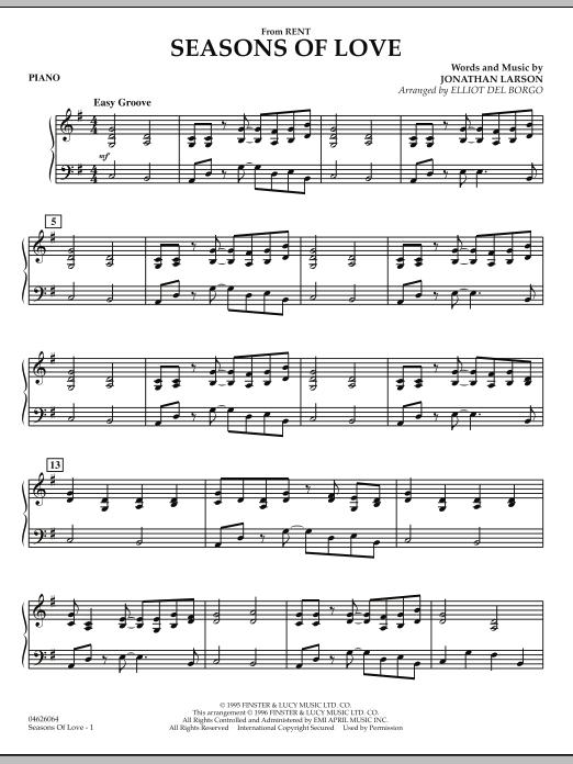 Seasons Of Love - Piano (Orchestra)