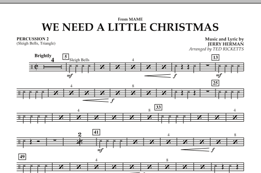we need a little christmas from mame percussion 2 by jerry herman
