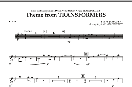 Theme From Transformers - Flute (Concert Band)
