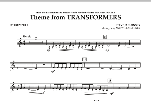 Theme From Transformers - Bb Trumpet 2 (Concert Band)