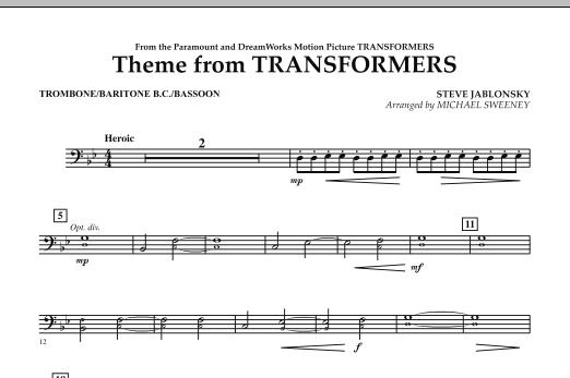Theme From Transformers - Trombone/Baritone B.C./Bassoon (Concert Band)