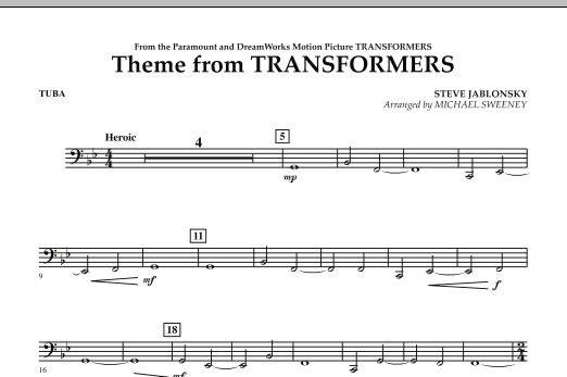 Theme From Transformers - Tuba (Concert Band)