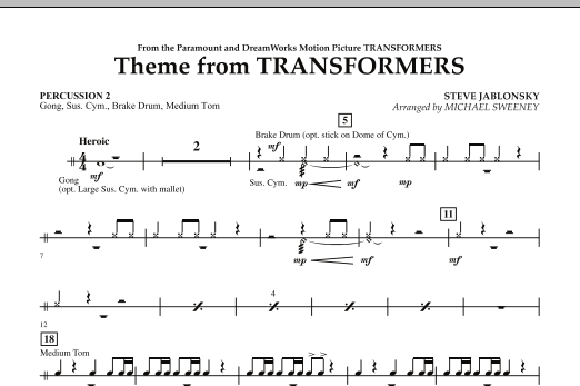 Theme From Transformers - Percussion 2 (Concert Band)