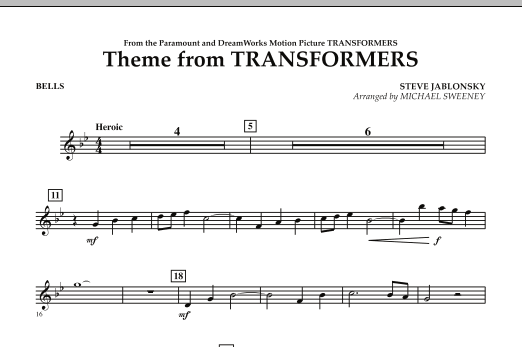 Theme From Transformers - Bells (Concert Band)