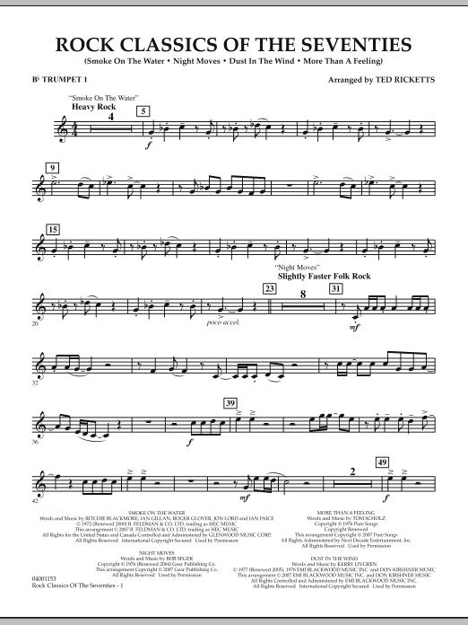Rock Classics Of The Seventies - Bb Trumpet 1 (Concert Band)