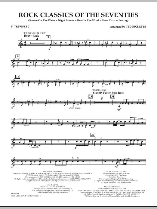 Rock Classics Of The Seventies - Bb Trumpet 2 (Concert Band)