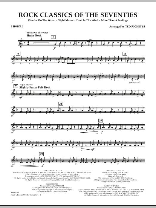 Rock Classics Of The Seventies - F Horn 2 (Concert Band)