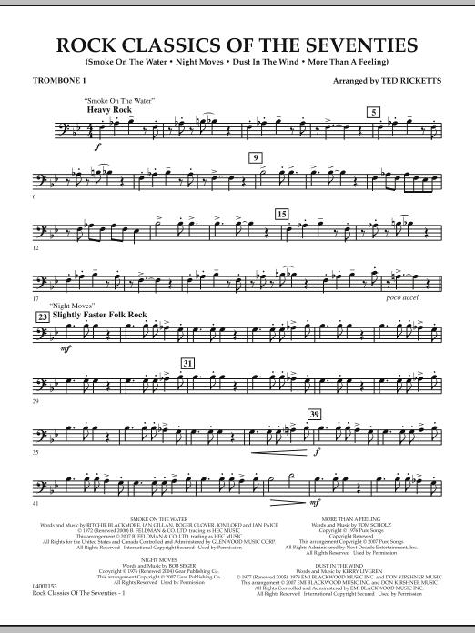 Rock Classics Of The Seventies - Trombone 1 (Concert Band)