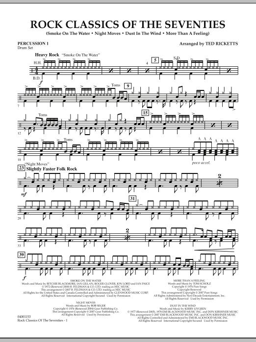 Rock Classics Of The Seventies - Percussion 1 (Concert Band)