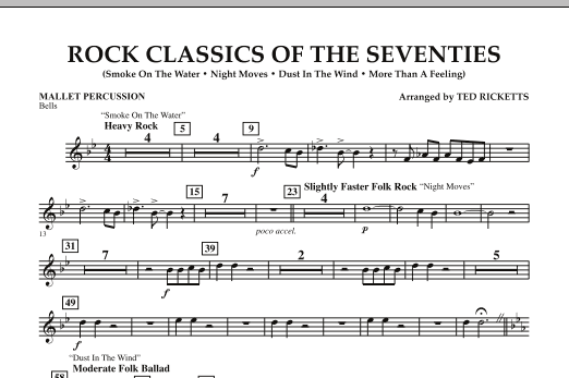 Rock Classics Of The Seventies - Mallet Percussion (Concert Band)