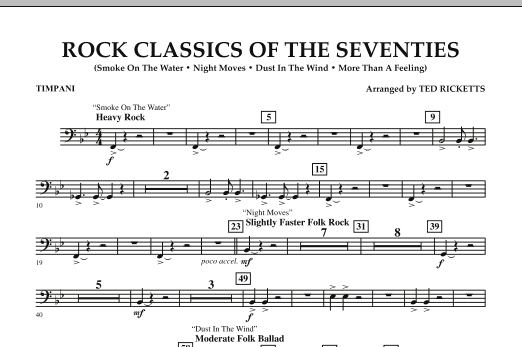 Rock Classics Of The Seventies - Timpani (Concert Band)