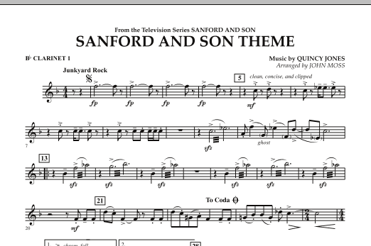 Sanford And Son Theme - Bb Clarinet 1 (Concert Band)