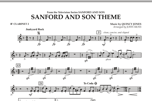 Sanford And Son Theme - Bb Clarinet 2 (Concert Band)