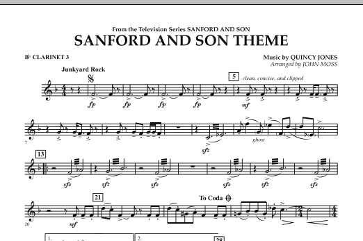 Sanford And Son Theme - Bb Clarinet 3 (Concert Band)