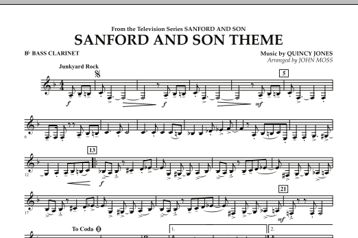 Sanford And Son Theme - Bb Bass Clarinet (Concert Band)