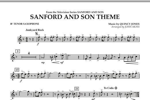 Sanford And Son Theme - Bb Tenor Saxophone (Concert Band)