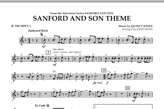 Sanford And Son Theme - Bb Trumpet 1 (Concert Band)