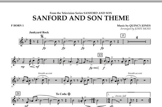 Sanford And Son Theme - F Horn 1 (Concert Band)