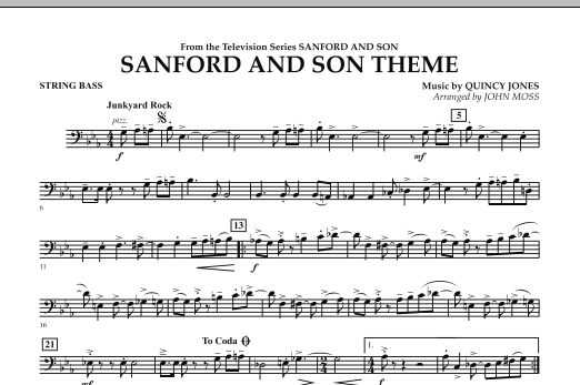 Sanford And Son Theme - String Bass (Concert Band)