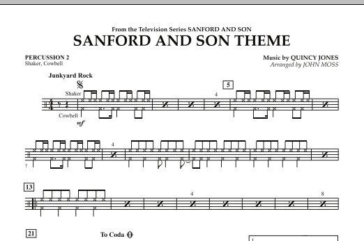 Sanford And Son Theme - Percussion 2 (Concert Band)