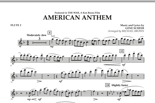 American Anthem (from The War) - Flute 2 (Concert Band)