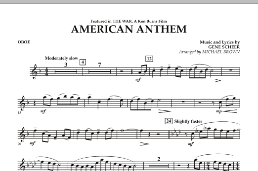American Anthem (from The War) - Oboe (Concert Band)