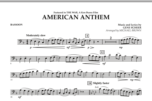 American Anthem (from The War) - Bassoon (Concert Band)