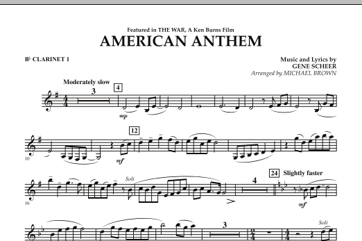 American Anthem (from The War) - Bb Clarinet 1 (Concert Band)