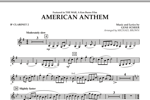 American Anthem (from The War) - Bb Clarinet 2 (Concert Band)