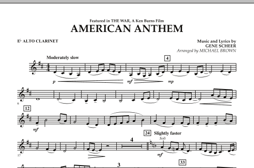 American Anthem (from The War) - Eb Alto Clarinet (Concert Band)