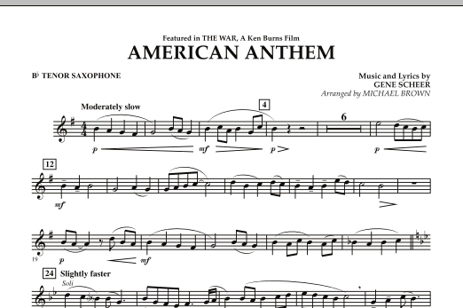 American Anthem (from The War) - Bb Tenor Saxophone (Concert Band)