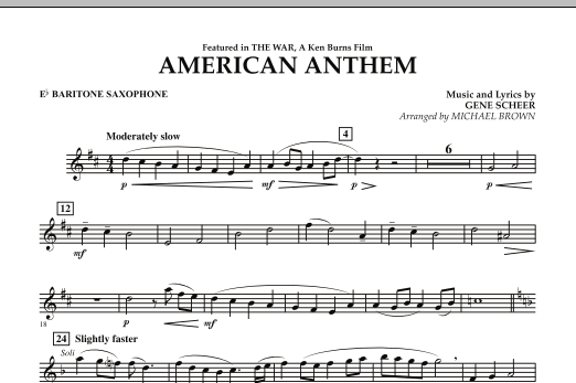 American Anthem (from The War) - Eb Baritone Saxophone (Concert Band)