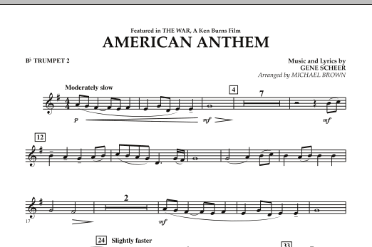American Anthem (from The War) - Bb Trumpet 2 (Concert Band)