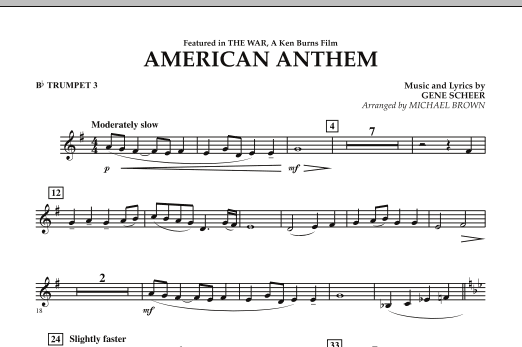 American Anthem (from The War) - Bb Trumpet 3 (Concert Band)