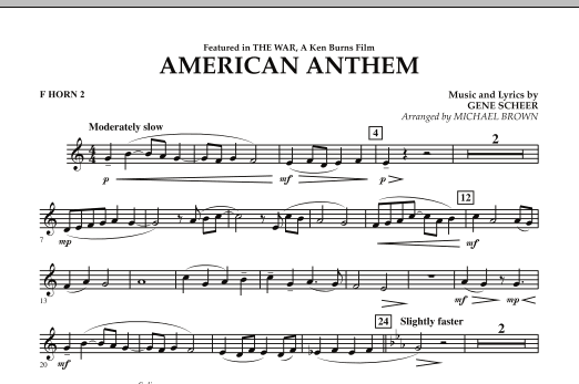 American Anthem (from The War) - F Horn 2 (Concert Band)