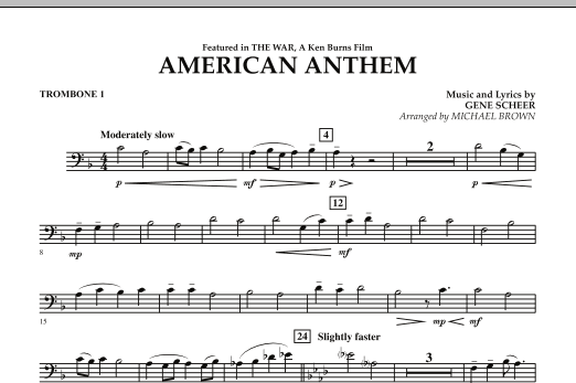 American Anthem (from The War) - Trombone 1 (Concert Band)