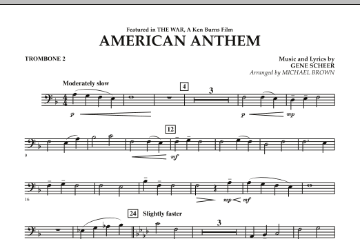 American Anthem (from The War) - Trombone 2 (Concert Band)
