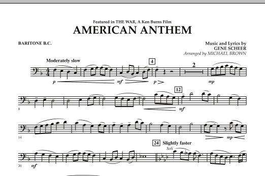 American Anthem (from The War) - Baritone B.C. (Concert Band)