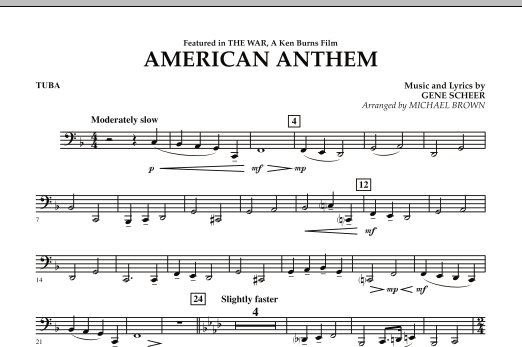 American Anthem (from The War) - Tuba (Concert Band)