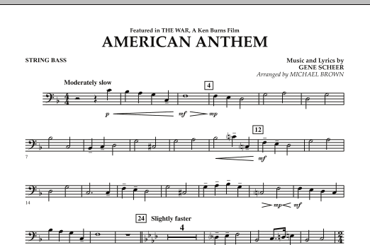 American Anthem (from The War) - String Bass (Concert Band)