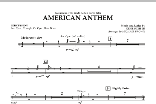 American Anthem (from The War) - Percussion (Concert Band)