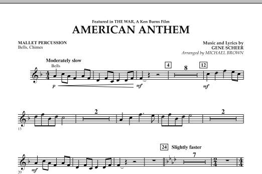 American Anthem (from The War) - Mallet Percussion (Concert Band)