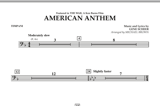 American Anthem (from The War) - Timpani (Concert Band)