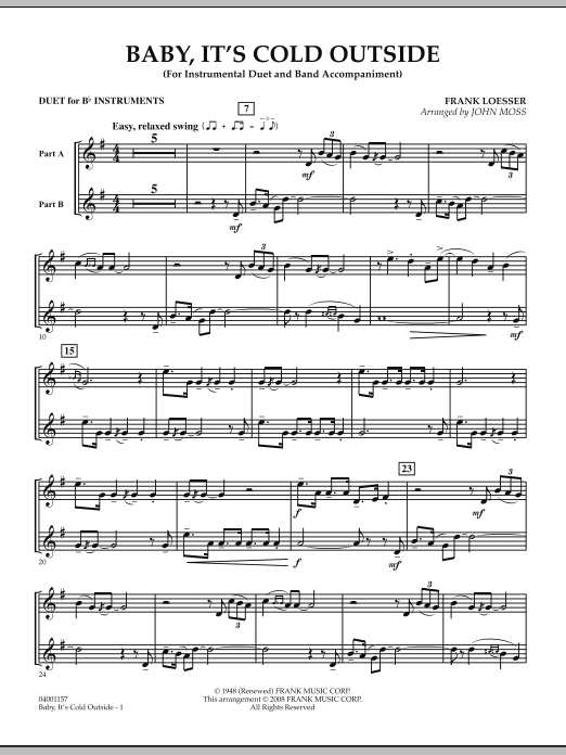 Baby, It's Cold Outside - Duet in Bb (Concert Band)