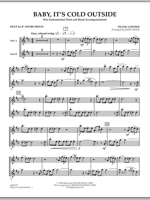 Baby, It's Cold Outside - Duet in Eb (Concert Band)